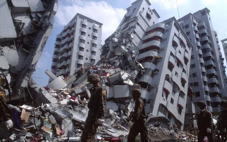 földrengés - krónika